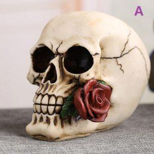 Halloween Taro Askfat Hem Smycken Dekorationer Munbitande Rose Taro Askfat