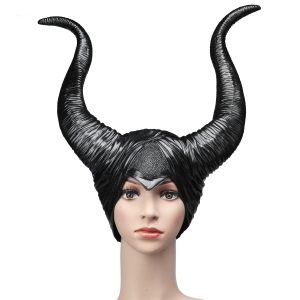 Black Horns Halloween Party Costume Witch Headgear Cosplay