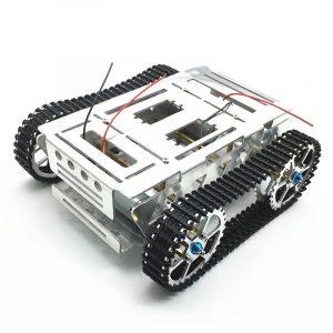 DIY aluminiumlegering Spårad RC Robot Chassi Tankbil med sökrobot