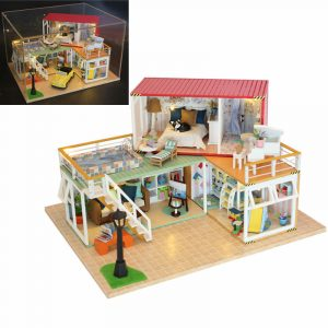 Hoomeda 13841Z Container Home A DIY Dollhouse Kit 3D Japanese Style With Music Cover Light