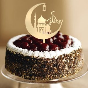 Eid Mubarak Happy Ramadan Cake Topper Insert Islam islamisk Glitter Hajj Decor Cake Decorating Tools Kuchendeckel Gateau Kage Decorations