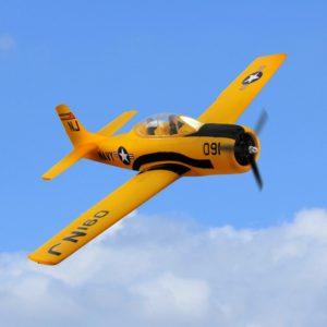 Dynam T-28 Trojan V2 Yellow / Red 1270mm Wingspan EPO Trainer Warbird RC Airplane PNP