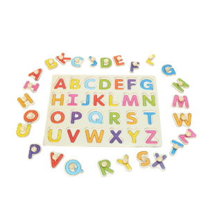 Alphabet ABC Wooden Jigsaw Puzzle Toy Children Kids Learning Educational Gift
