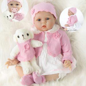 Verklig docka Reborn Baby Dolls 22 tum 55 cm Realistisk Baby Reborn Soft Silikon Doll Baby Handgjord nyfödd Reborn Baby Pojke och flicka Leksaker Småbarn Flicka