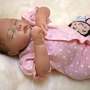 Söta återfödda babydockor Flickor 20 tum 50 cm mjuk silikon som ser riktigt nyfödda återfödda