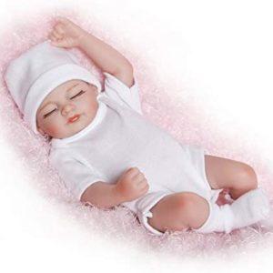 Docka Reborn Silicone Vinyl Handgjorda levande Baby Girl Docka Realistisk nyfödd leksak