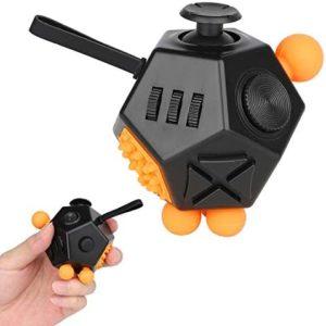 Fidget Cube Antistress Cube ADHD Leksak Finger Toy Stress Reliever Liten Gadget för barn Unga vuxna 12 sidor
