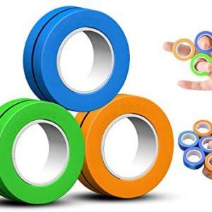 Magni Ringar Magnetisk fingerring Stressavlastningsleksak Magnetiskt armband Ring Packa upp leksak Magiska ring Rekvisita Verktyg Dekompressionsleksak (Drivs av FinGears)