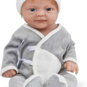 Full Silikon Reborn Docka, inte Vinyl Docka, Realistiska Babydockor, Återfödda Livliknande Nyfödda