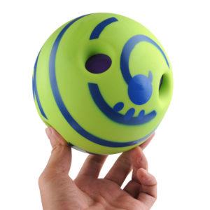 6 tums husdjursbollträningstugg med roliga ljudleksaker knarrande fnissboll