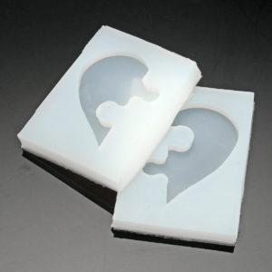 DIY smycken Beading gjutform mögel silikon klar harts kristall mögel fyrkantigt hjärta