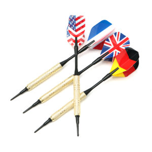 12Pcs 4 Kinds National Flag Tail Darts With 36 Extra Soft Tips Professional