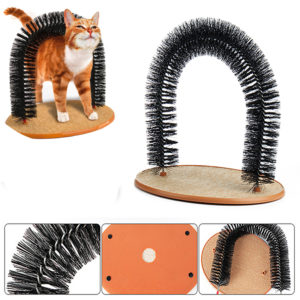 Pet Cat Arch Hair Grooming Scratcher Toy Self-Groomer Toys Massage