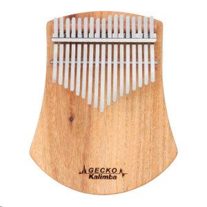 GECKO K17CAS 17 Keys Kalimba Camphor Wood Thumb Finger Piano with Bag Set
