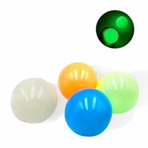 Stress Reliefer fluorescerande Sticky Target Balls Toys, Squishy Mash Ball/Anti-stress-bollar, Sticky globala bollstressleksaker, fluorescerande självhäftande väggboll för bevis och stress lättnad