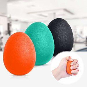 Peradix Handträning stresslindrande bollar, handgreppsstärkarbollar fingerterapi klämträning för vuxna och barn/barn – set med 3 resistenser
