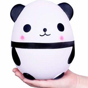WeYingLe Squishy jumbo långsamt stigande panda kräm doftande Kawaii squishies leksaker för barn och vuxna, härlig stressavlastningsleksak. Stor panda (vit)