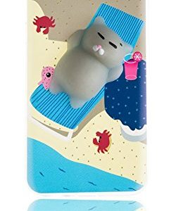 Spada 4052335033280 TPU mjukt skal Squishy 3D Cat Cartoon för Galaxy A5 2017 strand