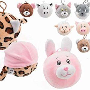 Toyland® 2-i-1 vändbara squishy djurvänner mjuka leksaker – 6 att samla – 1 slumpmässigt vald