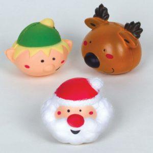 Baker Ross Squishy jul stressboll klämma (4 stycken) festliga pischis för barn