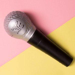 Fizz Creations Drop the Mic Ball Anti-stress Reliever, 14 cm x 5 cm