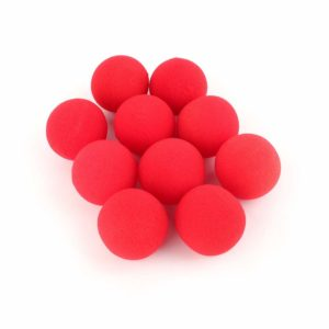 10Pcs 1.77 inch Red Sponge Soft Ball Close-Up Magic Street Classical Comedy Trick Props