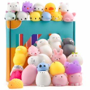 KUUQA 30 st djur squishies leksaker påskägg fyllning Kawaii squishy panda katt söt mini mjuk pressa stressavlastare bollar leksaker för barn vuxna födelsedagsfest favoritväskor