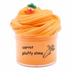 BESTZY Morot frukt fluffigt skum slem lera kitt doftande gör-det-själv lätt mjuk slime leksak, älva kitt stressavlastning leksak doftande slam leksak barn vuxna (200 ml)