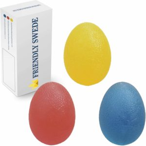 The Friendly Swede Stressbollar, Stärker Handgrepp och Minskar Stress - Perfekt för Vuxna och Barn - 3 Pack med olika Motståndsnivåer