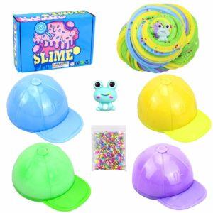 Fluffiga slime fluffiga slime leksaker, BESTZY leksak doftande slam, doftande gör-det-själv lätt mjuk slime, skum slem lera kitt, vacker färg moln konst lera