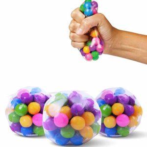 Amiispe Stressboll långlivade stora klumpigt vatten pärla stressbollar för ångestlindring sensoriska leksaker för autism ADHD