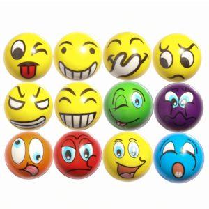 ZYDTRIP 12 st Squishy Ball stressavlastningsboll för vuxna och barn, nyhetsleksak för fest leverans av blandade färger och rolig stil