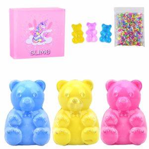 Fluffiga slime leksaker, BESTZY leksak doftande slam, doftande gör-det-själv lätt mjuk slime, skum slem lera kitt, vacker färg moln konst lera