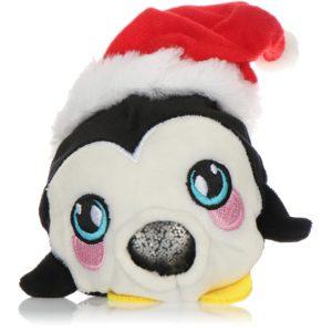 com-four® Anti-stress julfigur – pressa leksak jul – pressa boll med julmotiv för barn och vuxna (pingvin)