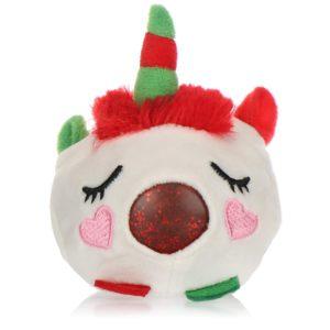 com-four® Anti-stress julfigur – pressa leksak jul – pressa boll med julmotiv för barn och vuxna (enhörning)