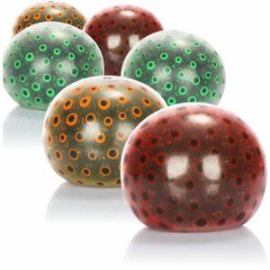 COM-FOUR® 6x Anti-Stress Ball - Pressa bollen för att minska stress och lek - Färgglad pressboll i olika färger [urval varierar] (06 stycken - Ø 6 cm färgad)
