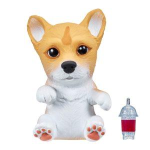 Little Live Pets 36709 – OMG husdjur Welsh Corgi Pembroke, baby hund att dra på sig, valp med smoothie flaska, husdjur för utfodring med 15 ljud, squishy och mjuk hundvalp för barn från 5 år