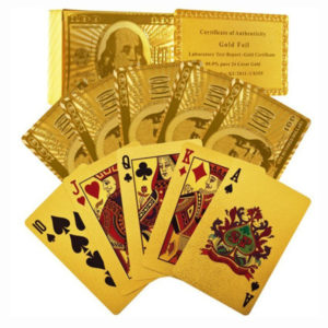 Certified Pure 24 Carat Gold Foil Plated Poker Cards Perfect Gift