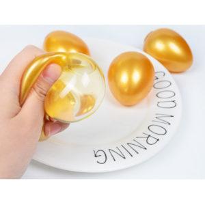 Kreativa TPR-simuleringsägg som ventilerar ägg som ventilerar flytande bollar Stressavlastningsleksak