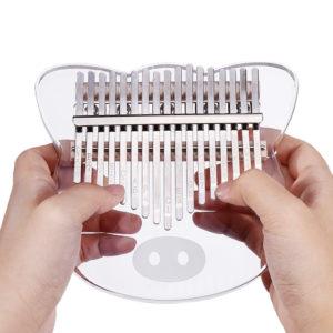 Byla 17 Keys Crystal Acrylic Kalimbas Transparent Thumb Piano Musical Instrument Gift