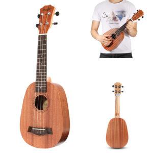 21 tums sopranananas mahogny Ukulele 4 strängar Hawaii mini gitarr barn gåva