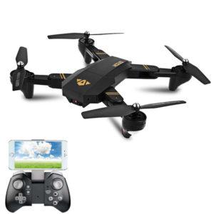 VISUO XS809HW WIFI FPV Med 720P vidvinkel HD-kamera Höghållningsläge Fällbar arm RC Drone Quadcopter RTF