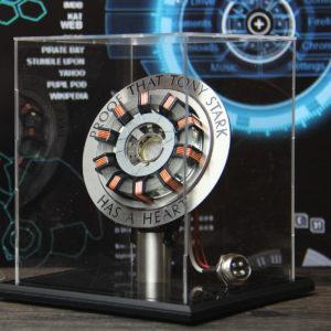 I lager 1: 1 Aluminiumlegeringsbågreaktor DIY Model MK2 Led Light Mark Chest Tony Heart Lamp Light DIY Model Science Toy