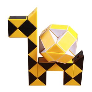 Original Speed Magic Cube Snake Puzzle Linjal Twist 24 block pedagogiska roliga leksaker för barn
