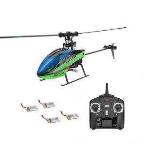 WLtoys V911S 2.4G 4CH 6-Aixs Gyro Flybarless RC helikopter RTF med 4PCS 3.7V 250MAh Lipo batteri