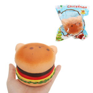 Seal Burger Squishy 7.5*9.5cm Slow Rising Soft Collection Gift Decor Toy Original Packaging