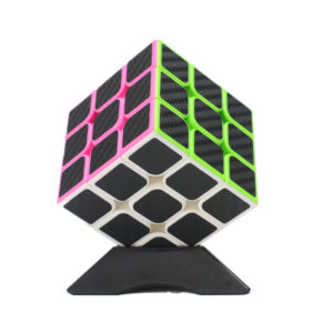 Classic Magic Cube Toys 3x3x3 PVC Sticker Block Puzzle Puzzle Speed Cube Fiber Carbon
