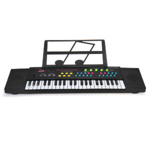 44 tangenter Digitalt elektroniskt tangentbordspiano med mini -mikrofon Musikställ för barn Musikupplysning